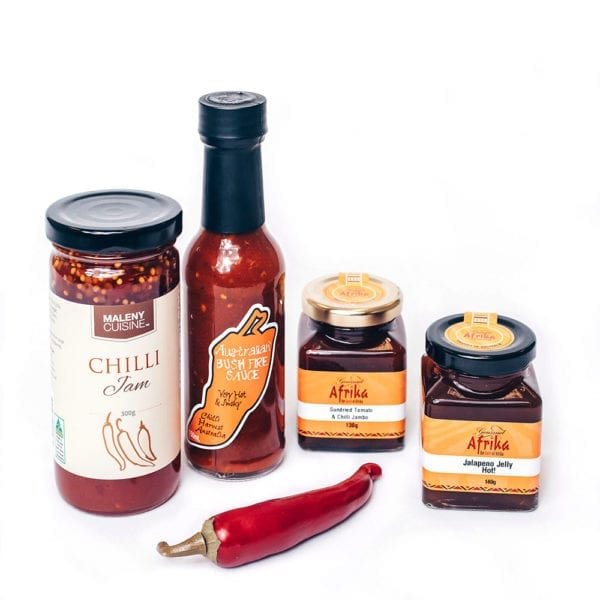 A food hamper with chilli taster