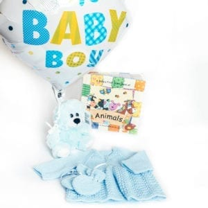 A gift basket perfect for a baby boy
