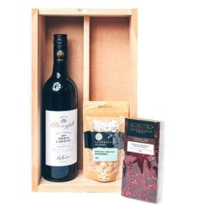 Chocolate hamper best for relaxing with red wine