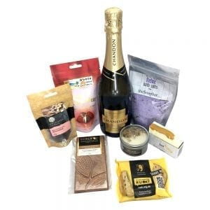 The Chandon pamper basket for gifts