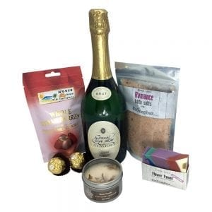 Chocolate hamper with bubbles & bath