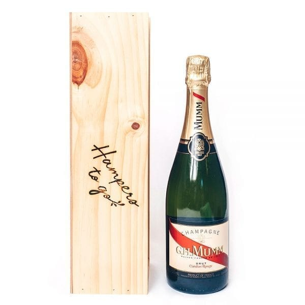 Gift hampers with Mumm Champagne