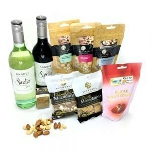 Chocolate hampers online packed with sweet & savoury wine duo