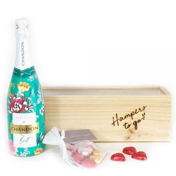 A gift hamper full of bubbles & chocolates