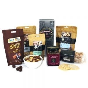 Gourmet food hamper packed with Chivas & friends
